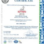 Egytrafo group ISO 14001 - 2015